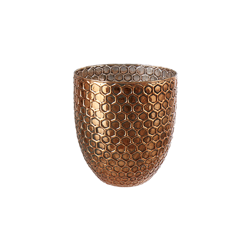 ELIN TEA LIGHT HOLDER CROSS DESIGN L | COPPER