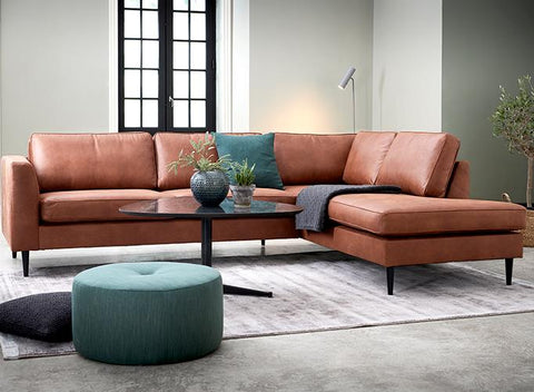 Houston Corner Sofa Left | Kentucky Cognac