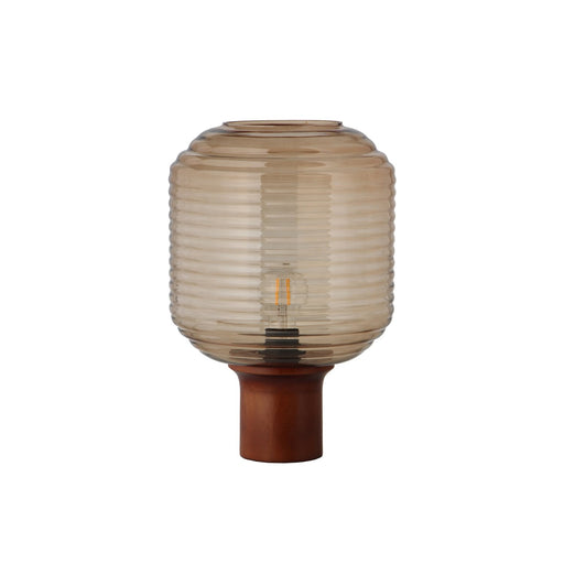 HONEY TABLE LAMP | AMBER GLASS