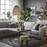 Hudson Left Hand Corner Sofa | Grey