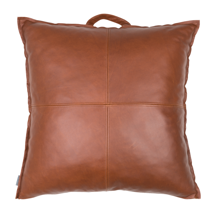 Boston Floor Cushion | Cognac, Leather