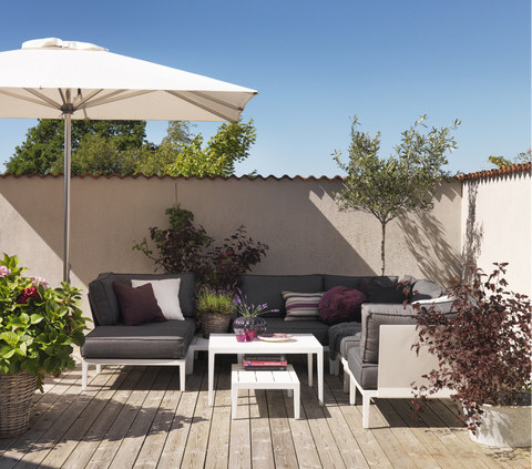MIMOZA Outdoor Corner With Cush  | White
