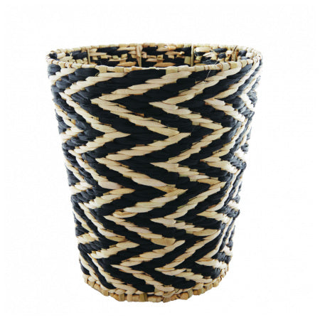 PAPER ROPE BASKET SIA | Black & Natural