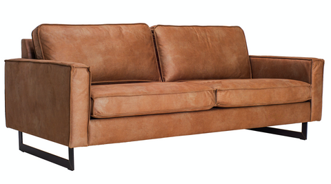 Pinto sofa 3 seaters | Kentucky cognac