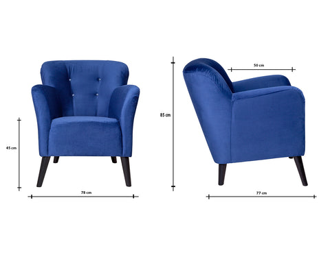 Venus Chair | Navy Blue