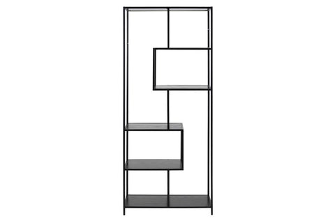 Seaford Bookcase 4 shelves | Black