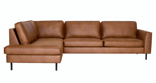 Left corner Scott sofa leather cognac