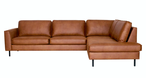 Right corner sofa cognac leather