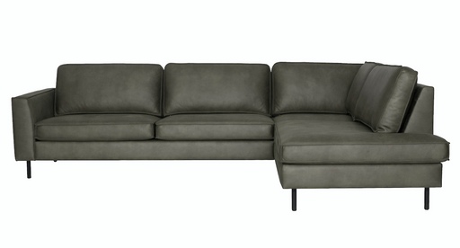Right corner sofa stone leather scott