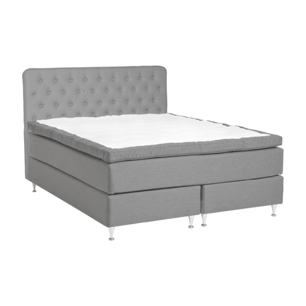 Majezty Continental Bed | Light Grey