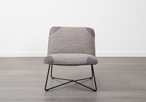Danny Chair | Leather, Fabric Grey