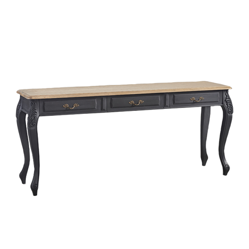 Console 3 Drawers | Black wood