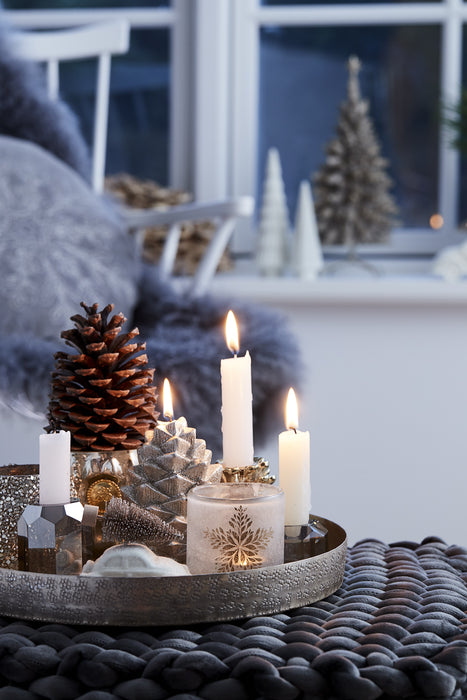 Nordic Decoration Candle  | Light Silver