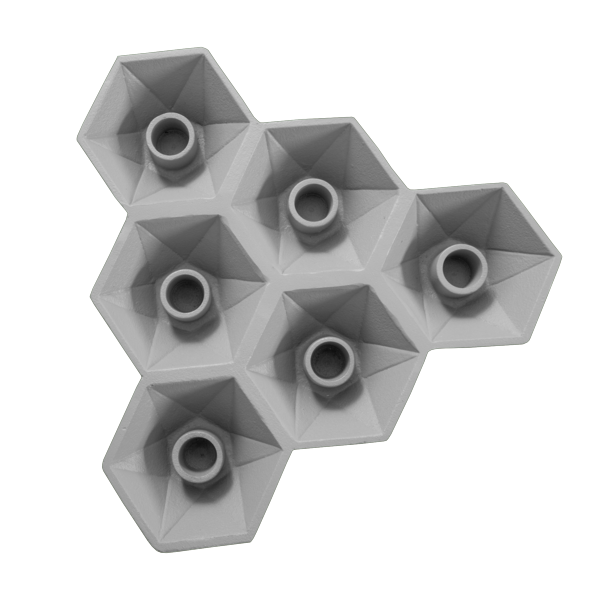 Hexagon Candle Holder |  Grey