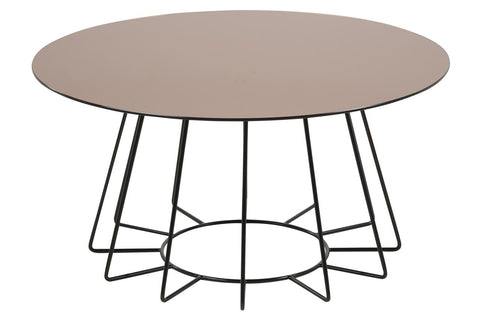 CASIA TABLE Bronze & base metal black painted