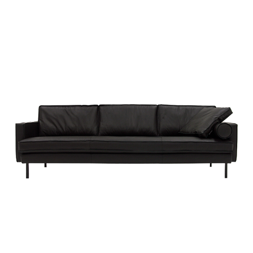 Mondial Sofa 3 Seater | Black Leather