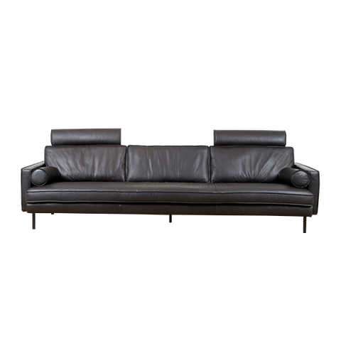 Mondial Sofa 4,5 Seater | Black Leather