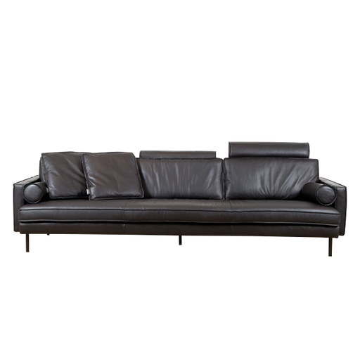 Mondial Sofa 4 Seater | Black Leather