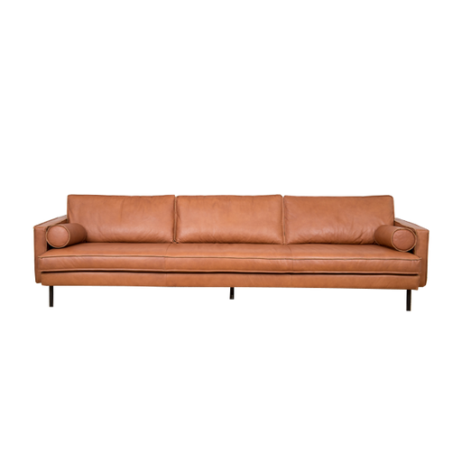 Mondial Tube Cushion |  Cognac, Leather