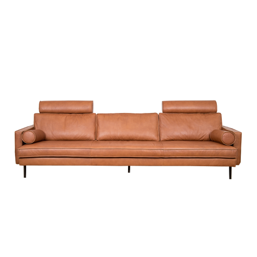 Mondial Sofa 4 Seater | Cognac Leather