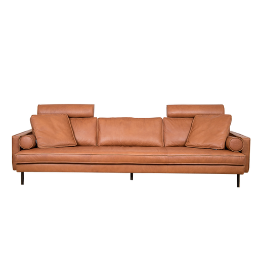 Mondial Cushion |  Cognac, Leather