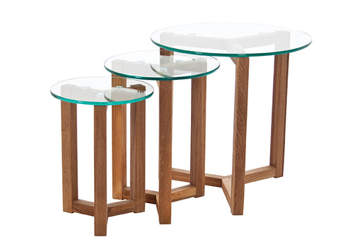 Osaka  Set of 3 tables glass
