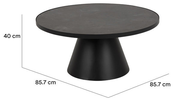 Soli coffee table glass/ceramic