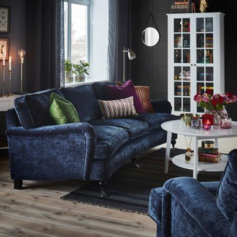 Proxima Curved 3 Seater Sofa | Navy