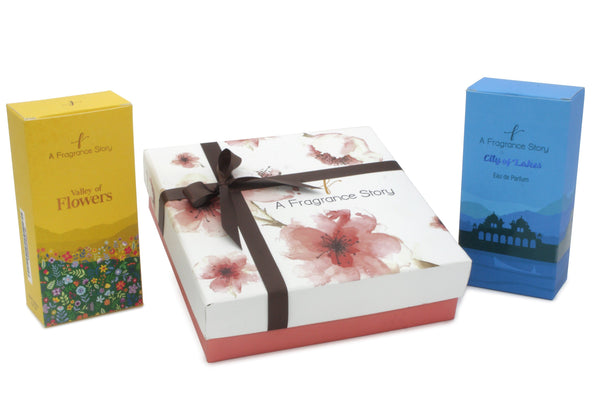 VALLEY OF FLOWERS AND CITY OF LAKES MEDIUM PERFUME GIFT SET - Zaga Concepts