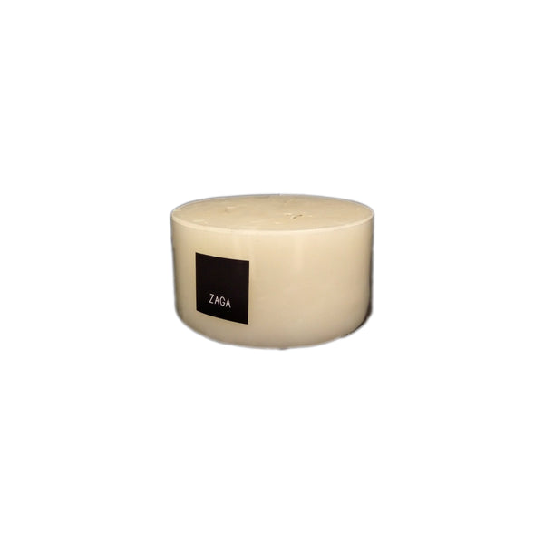 3WICK PILLAR CANDLE FLAT TOP - Zaga Concepts