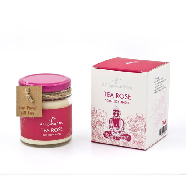 TEA ROSE SCENT CANDLE - Zaga Concepts