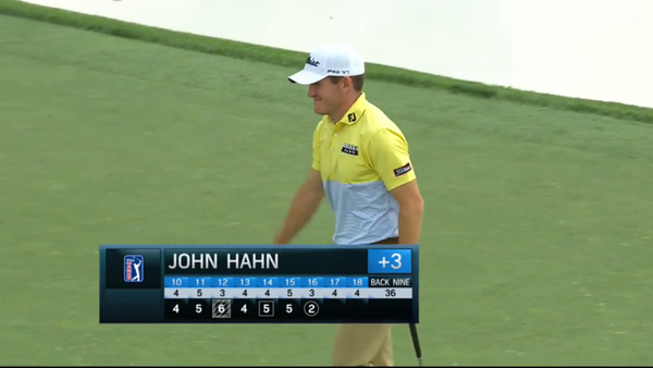 ScoreBand PGA Ambassador John Hahn Drains a Birdie at Memorial Tournament