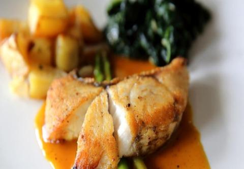 Seared Cod Filet Roasted Squash & Garden Vegetables