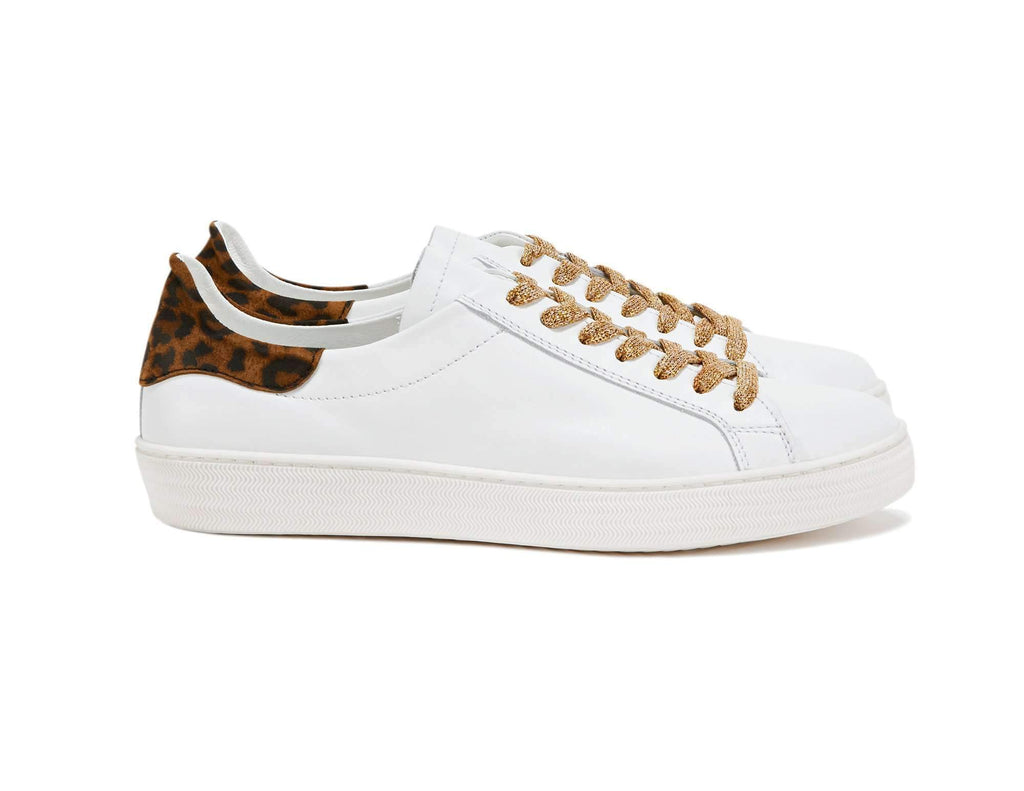 Department of Finery Indiana Sneaker WHITE/LEOPARD