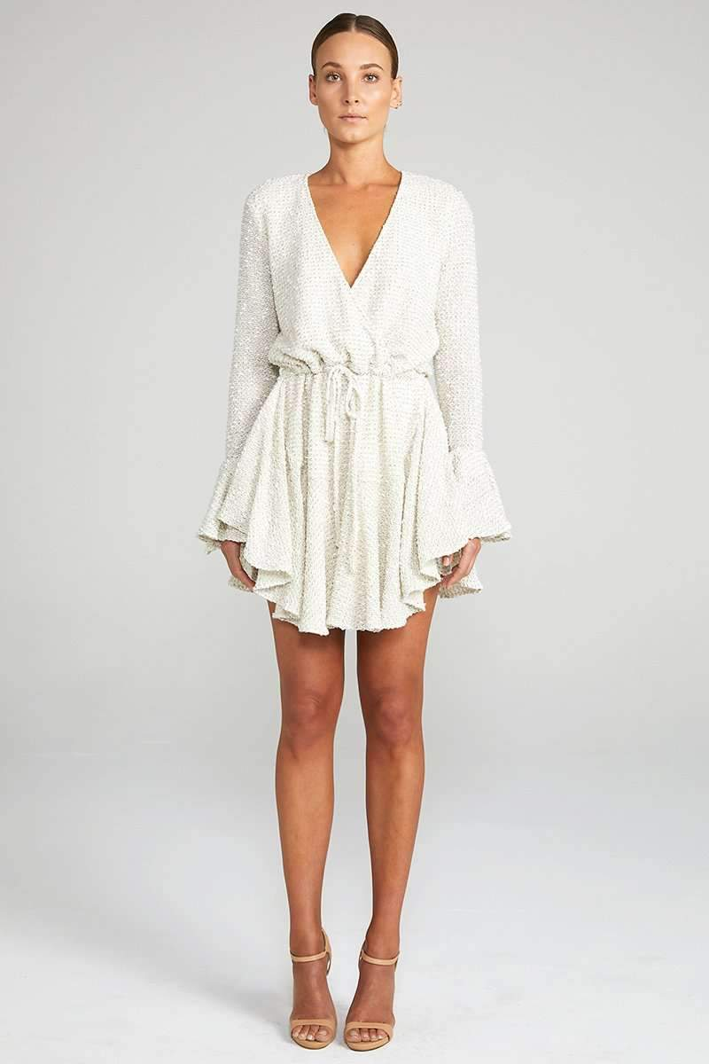 Shona Joy Aimee Frill Cuff Drawstring Mini Dress