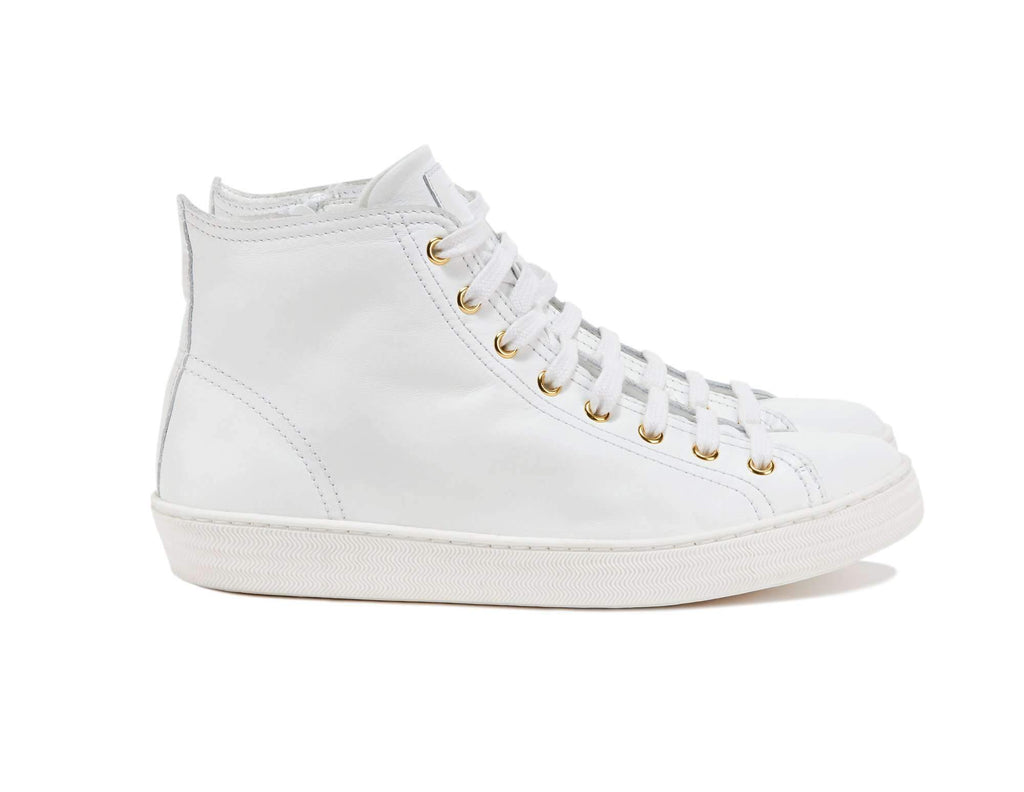 Department of Finery Freya Hi Top Sneaker WHITE