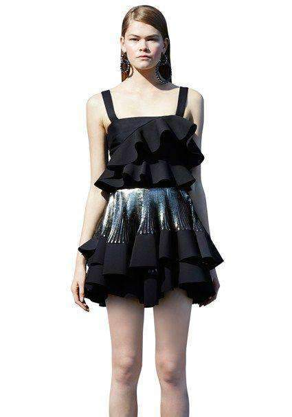 By Johnny Astrid 2-Tier Pleat Mini Skirt - Miko + Mollie