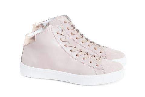 Department of Finery Empire Leather Hi Top Sneaker BLUSH - Miko + Mollie