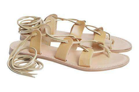 Department of Finery Havana Fine Leather Sandal BISCOTTO