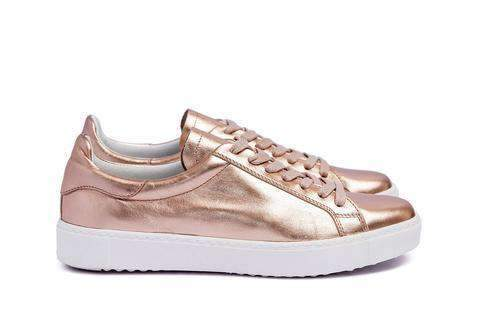 Department of Finery PREMIUM Dixie Sneaker ROSE GOLD ITALIAN LEATHER - Miko + Mollie