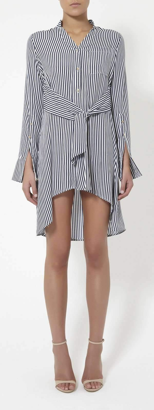 Airlie Pamela Stripe Tie Front Dress - Miko + Mollie