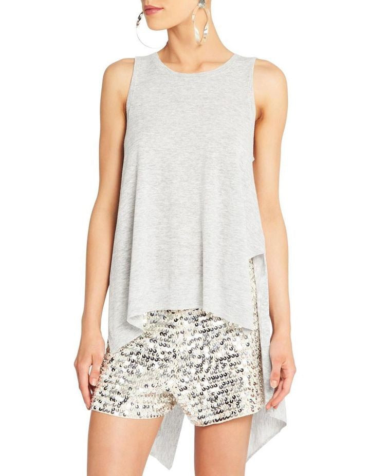 Sass and Bide Just a Version Draped Hem Knit Tank