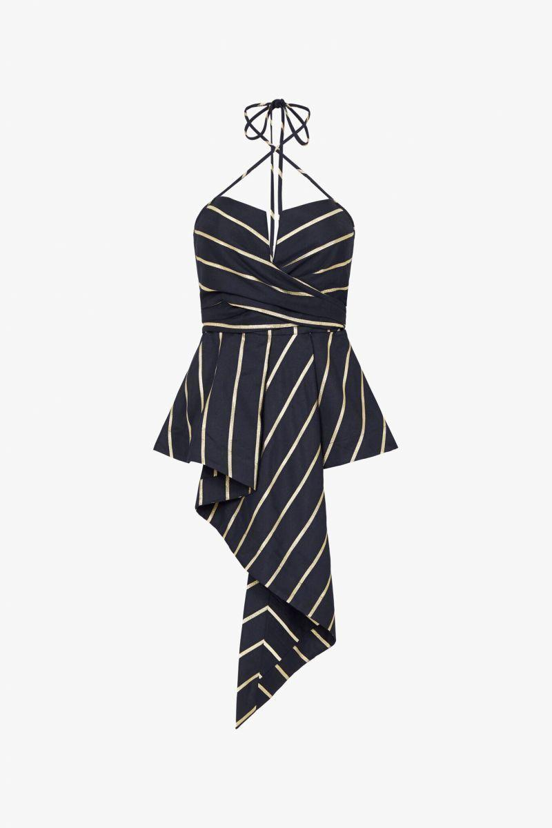 Sass and Bide Bombs Away Stripe Bodice Top