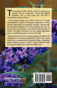 Answers to PRAYER - (By Ellen G. White)