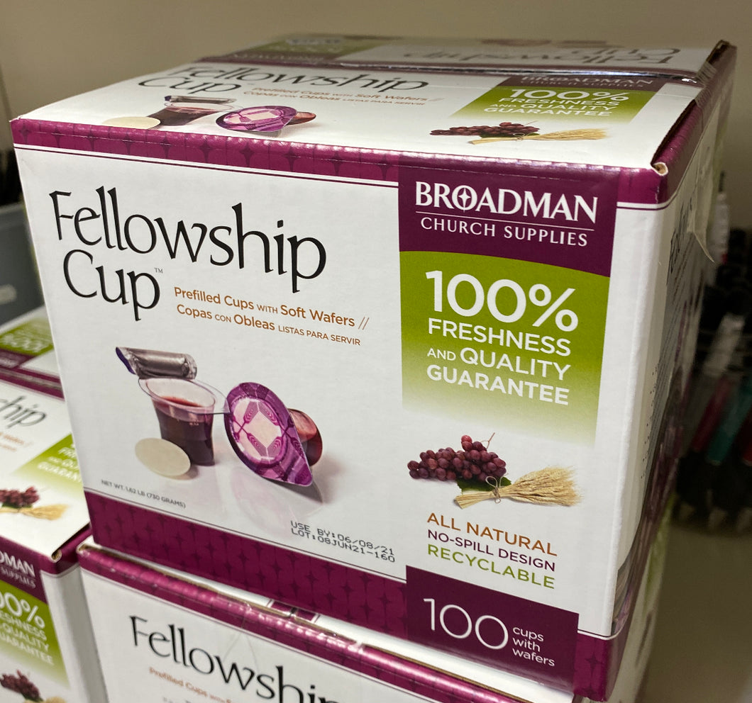 Fellowship Cup - Communion pre packaged set - 100 count