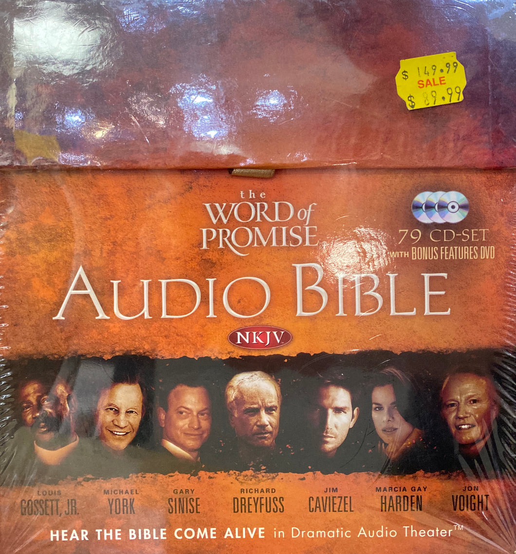 AUDIO BIBLE - NKJV  -   79 CD-Set  + Bonus Features DVD -- The WORD of PROMISE