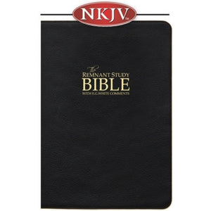 PLATINUM EDITION Remnant Study Bible NKJV (Genuine Top-grain Leather Black)