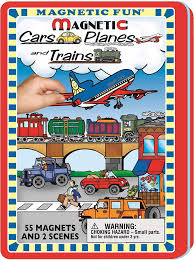 Cars, Planes, Trains - Magnetic Tin Set