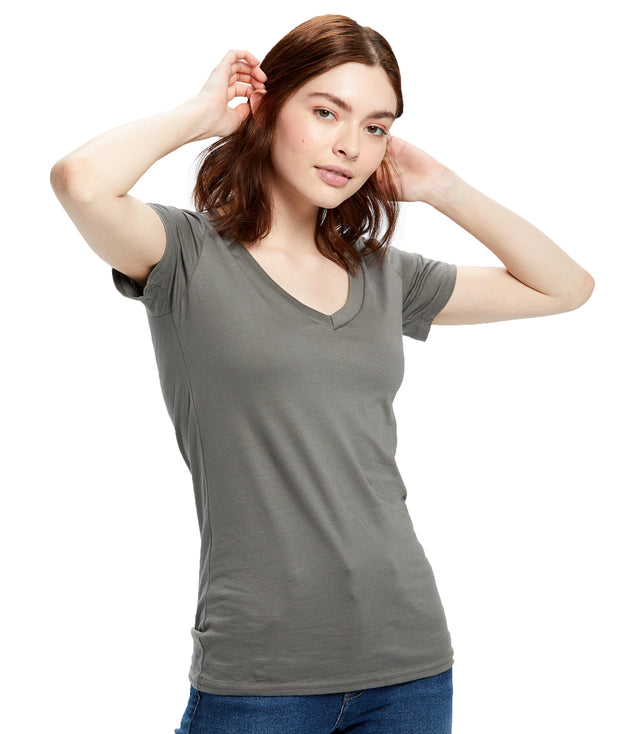 Women's Short Sleeve Jersey V-neck