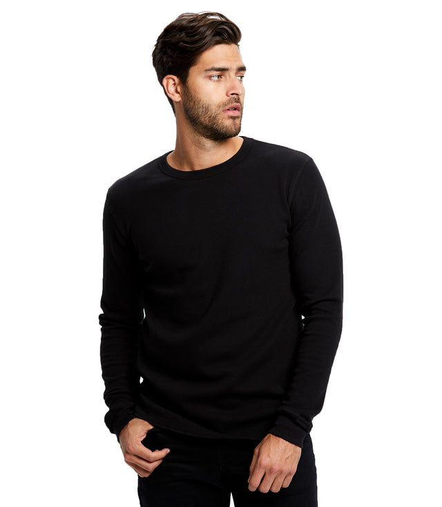 Unisex Long Sleeve Thermal Crew Neck